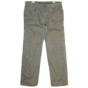 Prana Mens Bronson Brown Cargo Pants Size 34 X 32